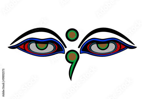 Buddha Eyes India Symbol Religion Boudha Inde Web Art Design 030