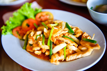 Chicken and Cashew Thai dish