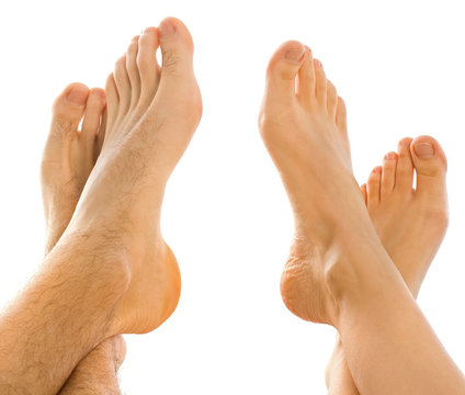 Feet on each other