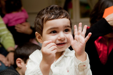 Enfant heureux...