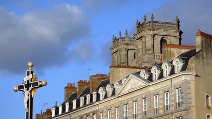vue sur la cathédrale de Rennes