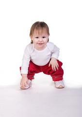 Little girl play