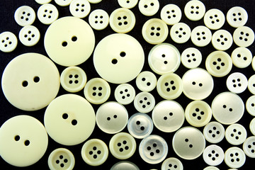 texture of old sewing buttons