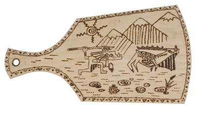 Breadboard decorated with pokerwork
