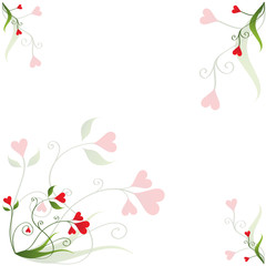 """Heart Flower"" Notepaper [Square] (romance love valentines)"