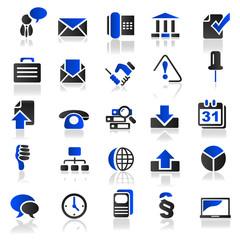 blue icons set 3