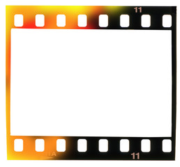 Wall Mural - 35 mm filmstrip,  picture frame, light incidence