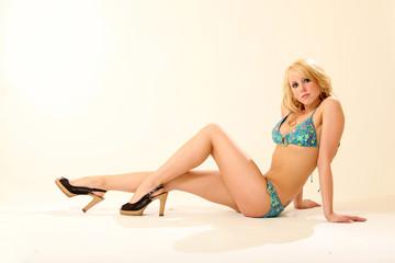 Gorgeous Blonde Swimsuit Model