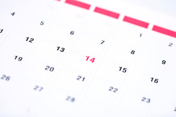 Calendar reminder 14 February St. Valentine's Day