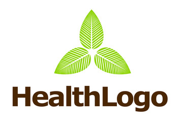 Health care nature green leaves logo