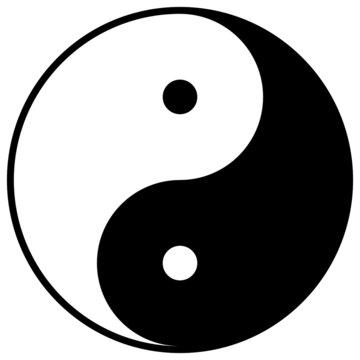 Ying Yang symbol - vector