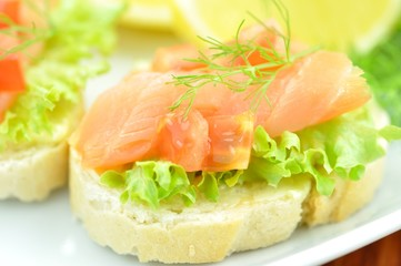 Lachs, Catering
