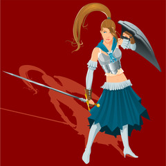 Spoed Foto op Canvas Ridders female warrior