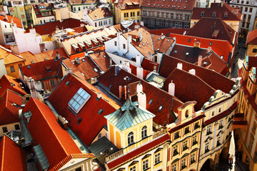 Wall Mural - Prague's roofs