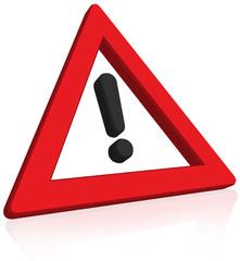 Zeichen 101 – Gefahrstelle Achtung Warnschild