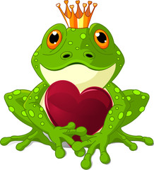 Canvas Prints Fairytale World Frog with heart