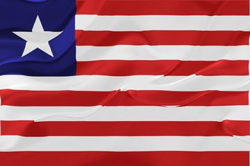 Flag of Liberia wavy