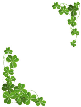 Shamrock corner ornament