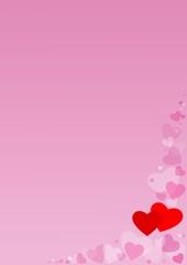 Rosa Herz Hintergrund
