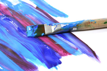 color oil paint and brush