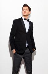 fashion shot of an elegant young man