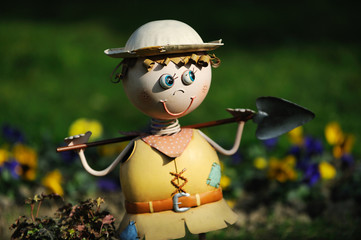 hand made farmer toy