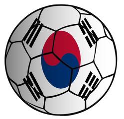 balón bandera seleción Corea
