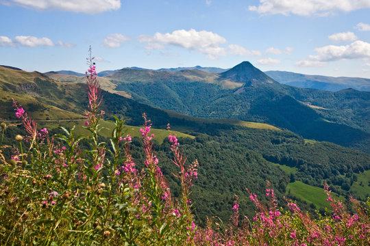 Vulkanlandschaft in der Auvergne