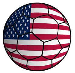 balón bandera selección Estados Unidos