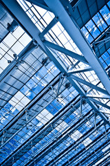Abstract blue ceiling