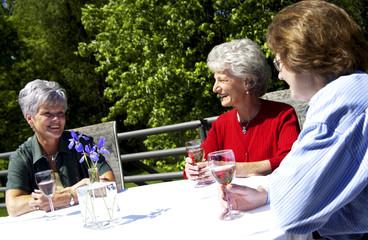 Women having a meal