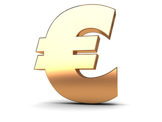 euro golden sign