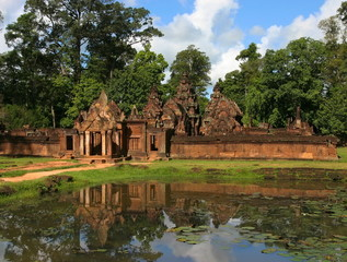 Banteay Srei Temple. Angkor. Siem Reap, Cambodia.