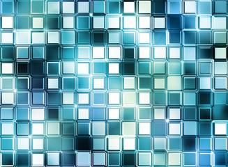 glass mosaic cubes