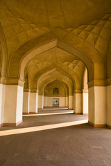 Charming view of mausoleum in Agra