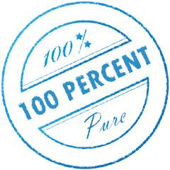"Stamp ""100% percent pure"""