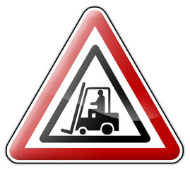 "Warning Sign ""Forklift"""
