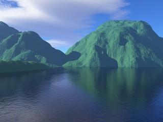 Meer mit Insel