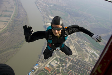 Photo sur Aluminium Aerien Skydiver