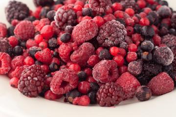 Frozen raspberries, blackberries, cranberries and currants