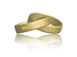 Wedding Rings (intertwined marriage wedding bands gold)
