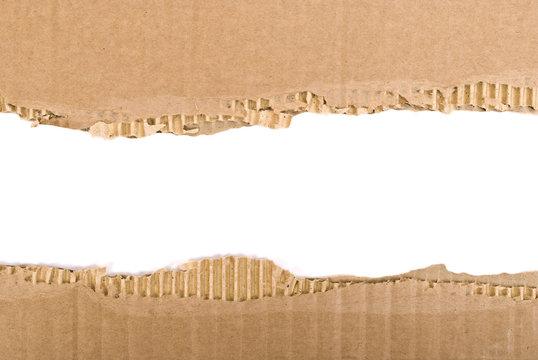 Corrugated cardboard border