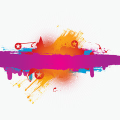 Vector colorful grunge banner