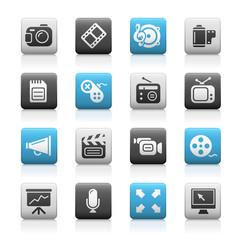 Matte Icons //  Multimedia
