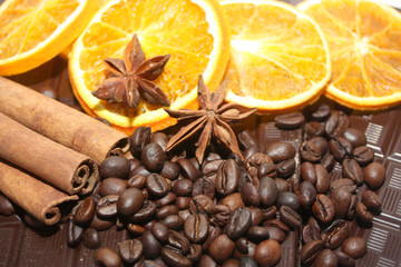 café, orange et canelle