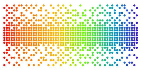 round pixel in rainbow color