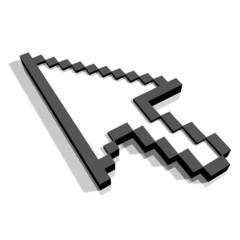 3d internet cursor - arrow