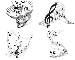 musical backgrounds set