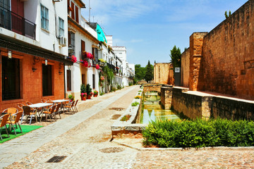 On the street of old Spain town