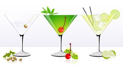 Fruit cocktail set